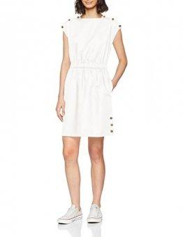 Tommy Hilfiger Damen MAIA DRESS SS Kleid,, per pack Weiß (CLASSIC WHITE 100), 40 (Herstellergröße: 10) - 1