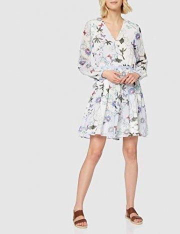Tommy Hilfiger Damen WW0WW20594 Kleid, Weiß (Ithaca Floral 134), 38 (Herstellergröße: 8) - 2