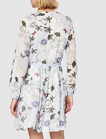 Tommy Hilfiger Damen WW0WW20594 Kleid, Weiß (Ithaca Floral 134), 38 (Herstellergröße: 8) - 4