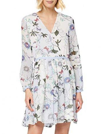 Tommy Hilfiger Damen WW0WW20594 Kleid, Weiß (Ithaca Floral 134), 38 (Herstellergröße: 8) - 1