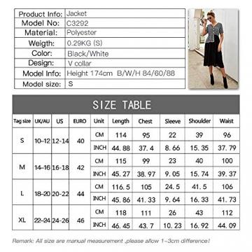 X&Armanis Temperament Sommerkleid, Retro Kariertes nähen Kleid sexy V-Ausschnitt Kleid,schwarz,L - 2