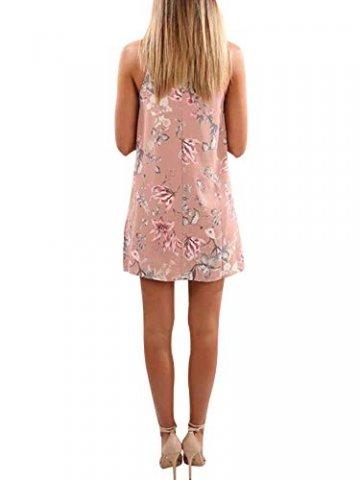 YOINS Strandkleider Damen Sommer Casual Sommerkleid Damen Kurz Strand Schulterfrei Elegant Kleider Ärmellos Minikleider - 4