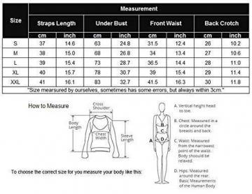 ADOME Dessous Damen Sexy Spitze Reizwäsche Bodysuit V-Ausschnitt Body Unterwäsche Lingerie Top Einteiliger Negligee Oberteil - 5