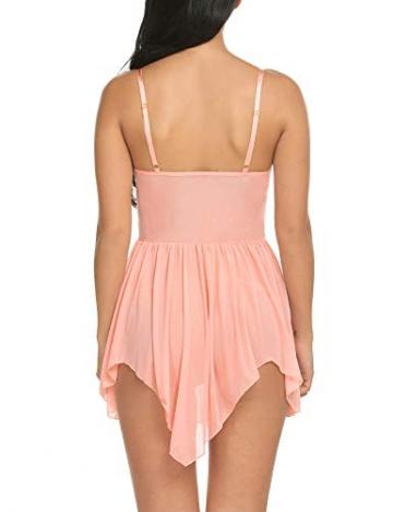 Avidlove Damen Spitze Negligee Dessous Kleid V-Ausschnitt Babydoll Lingerie Nachtwäsche Set Nachtkleid Ohne G-String Reizwäsche Sleepwear - 2