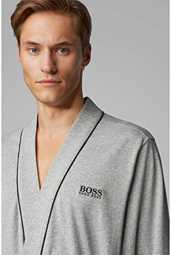 BOSS Herren Kimono BM Bademantel, Grau (Medium Grey 33), X-Large (Herstellergröße: XL) - 5