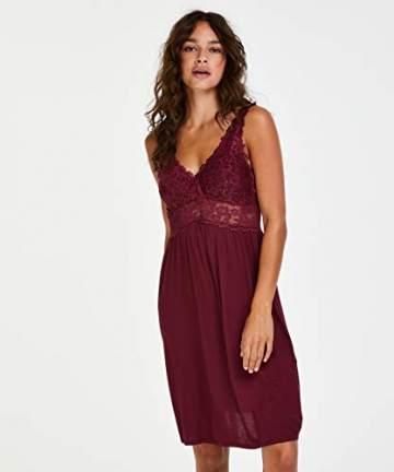 Hunkemöller Damen Slipdress Modal Lace- Gr. XL, Windsor Wine - 2