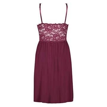 Hunkemöller Damen Slipdress Modal Lace- Gr. XL, Windsor Wine - 3