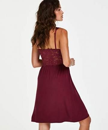 Hunkemöller Damen Slipdress Modal Lace- Gr. XL, Windsor Wine - 5