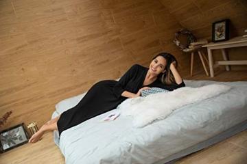 Unibelle Damen Morgenmantel Damen Sexy Baumwolle Saunamantel Bademantel Nachtwäsche Kimono Schlafanzug Herbst Schwarz S - 3