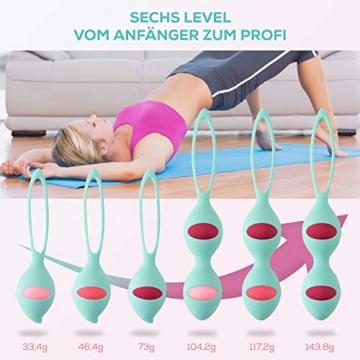 13AM Beckenbodentrainer für Frauen Set für Beckenbodentraining Kugeln in 6 Intensitätsstufen für Anfänger bis Profi nach und vor Schwangerschaft - 3