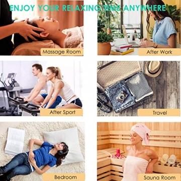 Kabelloser Massagestab Mini Wand Massager mit 20 Vibrationsmodi, Magic Elektrisches Massagegerät für rücken Nacken Schulter Rücken Körpermassage - 7