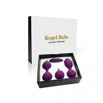 Liebeskugeln Kegel Balls 2-in-1-Kegel-Übungsgewichte und Massageball Ben Wa-Ballsets - Vom Arzt empfohlene Kegel-Bälle für Anfänger und Fortgeschrittene für Beckenbodenübungen und zum Festziehen - 2