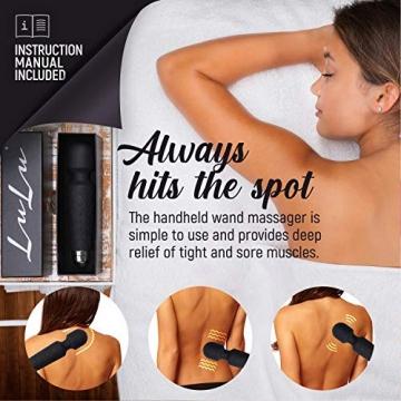 LuLu 11 Massage Wand Massagestab kabelloser elektrisch Memory Edition - Leise und Stark - 20 Verschiedene Vibrationsarten 5 Geschwindigkeiten - inkl. Reisetasche - 2