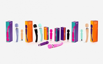 Oliver James Massage Wand Massagestab kabelloser elektrisch - 20 Verschiedene Vibrationsarten 8 Geschwindigkeiten - inkl. Reisetasche (Rosa) - 3