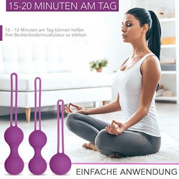 Premium Beckenboden Trainingskugeln 3er Set - Attraktives Beckenbodentraining für Frauen - Optimale Stärkung der Beckenbodenmuskulatur - 2