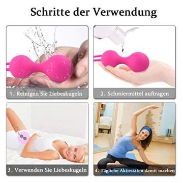 Premium Liebeskugeln 3er Set, Attraktives Beckenbodentrainer für Frauen, Medizinische Silikon Beckenbodentraining Kugeln/Übung Bälle - 3