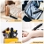 Vibratoren für Sie, Klitoris Vibratoren,Sexspielzeug für Frauen Mini Zauberstab massagegerät mitstoßfunktion Waterproof Silicone Dualer Motor 10 Starke Geschwindigkeit Vibrator,Schwarz MEHRWEG - 2