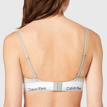 Calvin Klein Damen Triangle Unlined Triangel BH - Modern Cotton, Grau (Grey Heather 020), M - 4
