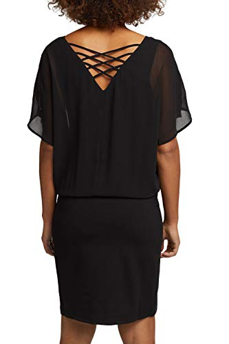 ESPRIT Damen 110EE1E320 Kleid, 001/BLACK, 38 - 2