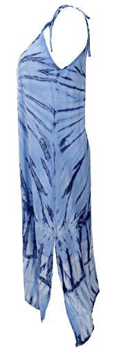 GURU SHOP Batikkleid, Strandkleid, Sommerkleid in Übergröße, Damen, Blau, Synthetisch, Size:One Size, Lange & Midi-Kleider Alternative Bekleidung - 2