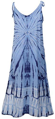GURU SHOP Batikkleid, Strandkleid, Sommerkleid in Übergröße, Damen, Blau, Synthetisch, Size:One Size, Lange & Midi-Kleider Alternative Bekleidung - 3