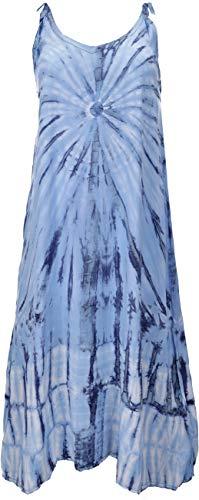 GURU SHOP Batikkleid, Strandkleid, Sommerkleid in Übergröße, Damen, Blau, Synthetisch, Size:One Size, Lange & Midi-Kleider Alternative Bekleidung - 1