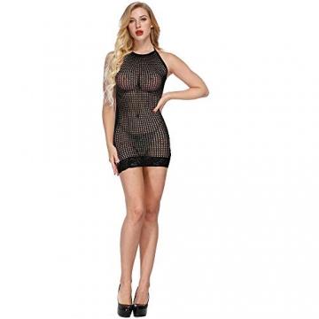 LOVELYBOBO 2-Pack Damen Kleid elastisch und flexibel tragbar Einheitsgröße mit Clubwear Partykleid V-Ausschnitt Rückenfreies (schwarz+rot) - 2