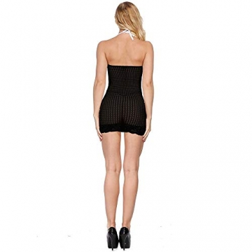LOVELYBOBO 2-Pack Damen Kleid elastisch und flexibel tragbar Einheitsgröße mit Clubwear Partykleid V-Ausschnitt Rückenfreies (schwarz+rot) - 4