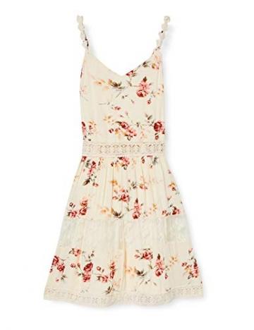 ONLY Damen 15177478 Kleid, AOP:Rose Flower Creme Brûlée, 34 - 1