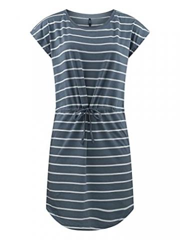 ONLY Damen Sommer Mini Kleid onlMAY S/S Dress 2er Pack Grösse XS S M L XL XXL Gestreift Schwarz 100% Baumwolle, Größe:XXL, Farbe:Blue Mirage Primo Stripe - 2