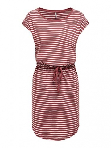 ONLY Damen Sommer Mini Kleid onlMAY S/S Dress 2er Pack XS S M L XL XXL Gestreift Schwarz 100% Baumwolle, Größe:XL, Farbe:Night Sky Primo & Apple Butter - 2