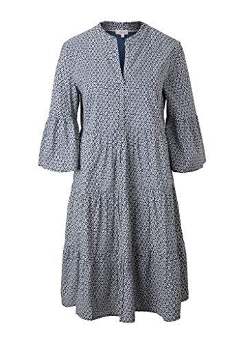 s.Oliver Damen Stufenkleid mit Tunika-Ausschnitt faded blue embroidery 46 - 2