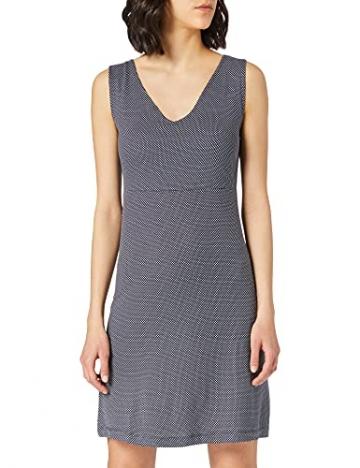 TOM TAILOR Damen 1024074 Jersey Kleid, 26025-Navy White Minimal Dot Print, 42 - 1