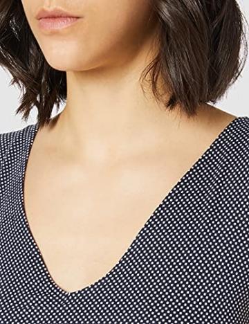 TOM TAILOR Damen 1024074 Jersey Kleid, 26025-Navy White Minimal Dot Print, 42 - 4