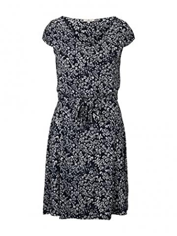TOM TAILOR Damen 1026052 Feminine Kleid, 27224-Navy Offwhite Flower, 42 - 1