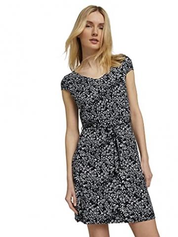 TOM TAILOR Damen 1026052 Feminine Kleid, 27224-Navy Offwhite Flower, 42 - 2