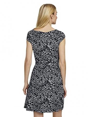 TOM TAILOR Damen 1026052 Feminine Kleid, 27224-Navy Offwhite Flower, 42 - 4