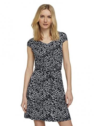 TOM TAILOR Damen 1026052 Feminine Kleid, 27224-Navy Offwhite Flower, 42 - 5