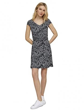 TOM TAILOR Damen 1026052 Feminine Kleid, 27224-Navy Offwhite Flower, 42 - 8
