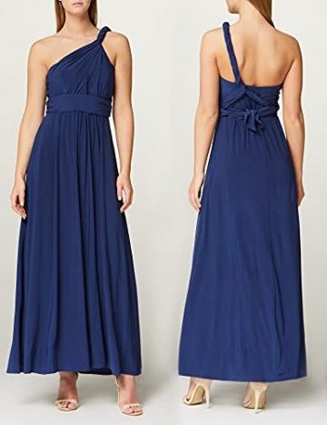 Amazon-Marke: TRUTH & FABLE Damen Maxi A-Linien-Kleid, Blau (Medival Blue), 42, Label:XL - 2