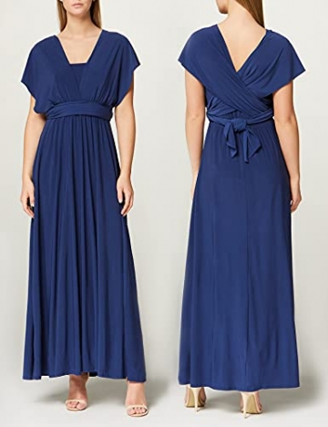 Amazon-Marke: TRUTH & FABLE Damen Maxi A-Linien-Kleid, Blau (Medival Blue), 42, Label:XL - 3