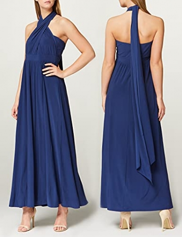 Amazon-Marke: TRUTH & FABLE Damen Maxi A-Linien-Kleid, Blau (Medival Blue), 42, Label:XL - 4