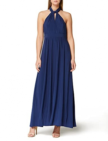 Amazon-Marke: TRUTH & FABLE Damen Maxi A-Linien-Kleid, Blau (Medival Blue), 42, Label:XL - 1