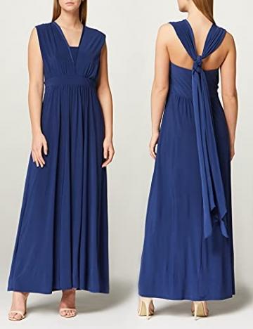 Amazon-Marke: TRUTH & FABLE Damen Maxi A-Linien-Kleid, Blau (Medival Blue), 42, Label:XL - 5