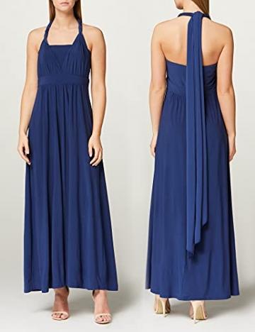 Amazon-Marke: TRUTH & FABLE Damen Maxi A-Linien-Kleid, Blau (Medival Blue), 42, Label:XL - 6