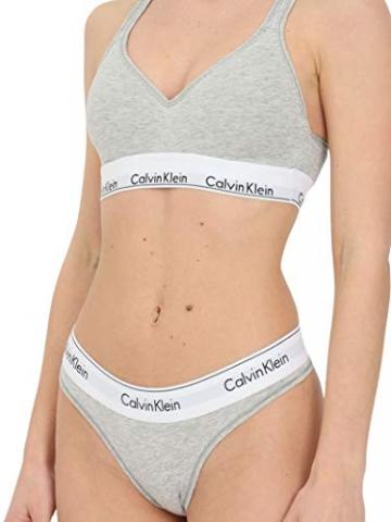 Calvin Klein Damen Bustier Bralette Lift BH, Grau (Grey Heather 020), M(89-94 cm) - 2