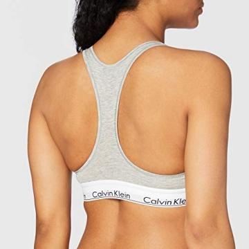 Calvin Klein Damen Bustier Dreieck BH Modern Cotton - Bralette, Grau (GREY HEATHER 020), M - 3