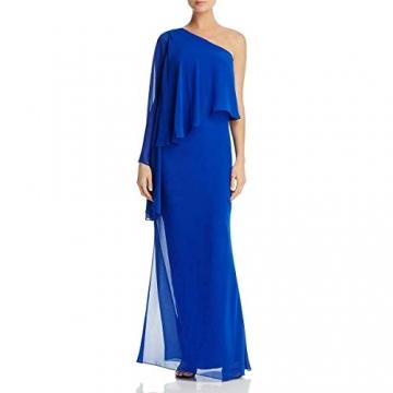 Laundry by Shelli Segal Damen Women's One Shoulder Popover Gown Formales Abendkleid, Vibrant Blue, 30 - 1