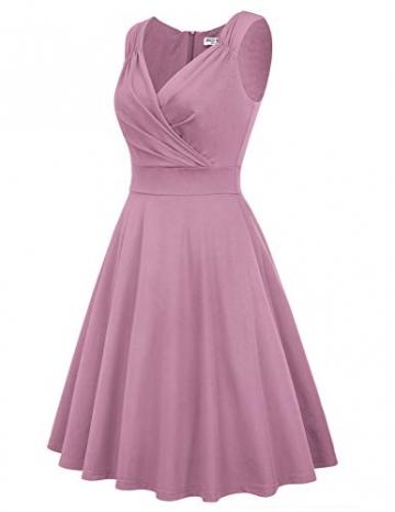 Petticoat Kleid elegant Swing Kleid Knielang cocktailkleider Retro Vintage Kleider CL698-14 M - 4