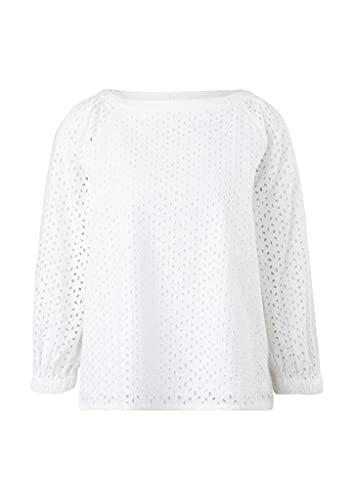 s.Oliver Damen Bluse aus Baumwollspitze White 38 - 2